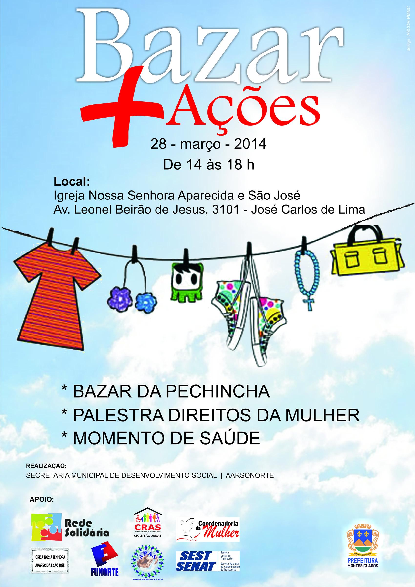 757b0a1cf4c Bazar Mais Ações - Evento solidário em homenagem às mulheres será ...